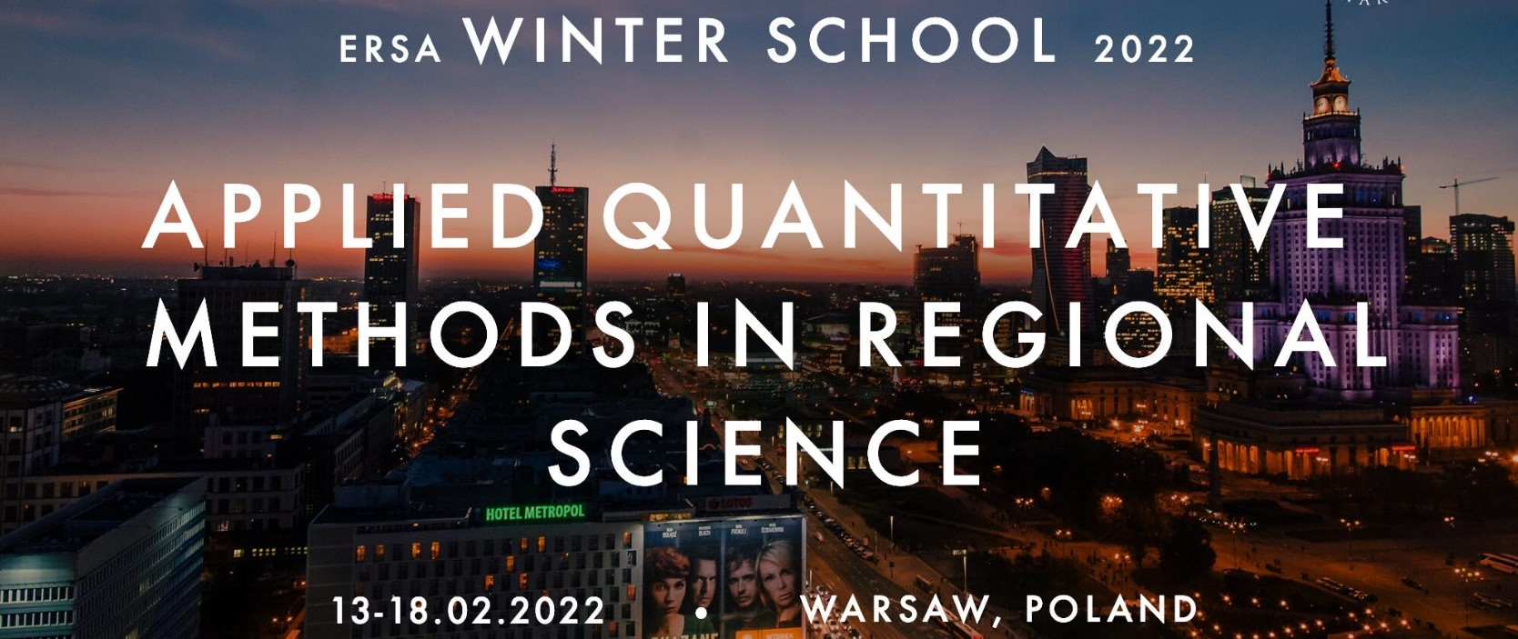 Applications are open for the ERSA Winter School 2022
